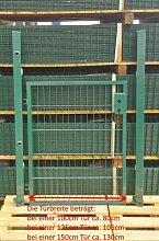 Elektrisches Gartentor Basic Moosgrün Breite
