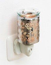 Elektrisches Nachtlicht, Duftlampe ROSE, BLUMEN, H 10.5cm, Ø 6cm, Pajoma (15,50 EUR / Stück)