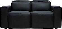 Elektrisches Relax-Sofa aus schwarzem Leder mit