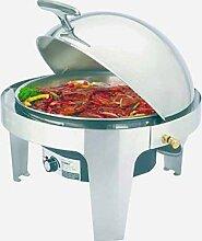 Elektro Chafing-Dish rund mit Rolltop-Deckel ø36cm Inh 6,8L 230V/500W