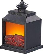 Elektro-Deko-Kamin mit Echtflammen-Optik,