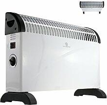 Elektro Heizung 2000W Heizgerät mit Frostwächter stufenloser Thermosteuerung Konvektor Heizer Radiator Elektrische Heizung Elektroheizung