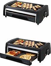 Elektrogrill und Mini Ofen Brotröster Tischgrill Multigrill Doppeldecker Doppelte Grillfläche Zerlegbar Grillrost Camping Grill Tisch Röster