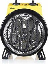 Elektroheizung Heizlüfter Spritzwassergeschützt Handgriff Lüfter (Heizgerät, 3000 Watt, Ventilator, Heizung, 3 Stufen, Kabel 1,8 m)
