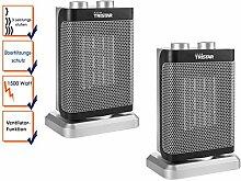 Elektroheizung im 2er Set Oszillierend mit Ventilator-Funktion 3 Leistungsstufen
