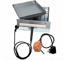 Elektroheizung mit Glutkasten und Thermostat für Profi-Räucherschrank isolier