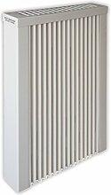 Elektroheizung - Radiator - 1250 Watt - im Set - inkl. Wandmontageset und Schukostecker - Wandthermostat für Festanschluss - mit Schamottespeicherkern - Maße: (LxHxT) 410x630x130 - Lagerware
