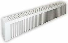Elektroheizung - Radiator - 1500 Watt - im Set - inkl. Wandmontageset und 1,8m Anschlusskabel- Wandthermostat mit 1,5m Kabel für Steckdose - mit Schamottespeicherkern - Maße: (LxHxT) 990x230x130 - Lagerware