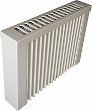 Elektroheizung - Radiator - 500 Watt - im Set - inkl. Wandmontageset und 1,8m Anschlusskabel - Integriertes Thermostat mit Ein-/Ausschalter und Kontrollheizleuchte - mit Schamottespeicherkern - Maße: (LxHxT) 410x380x80 - Lagerware