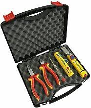 Elektroinstallations-Set mit Werkzeug von KNIPEX und JOKARI im Geschenk-Koffer