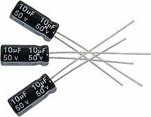 Elektrolytkondensatoren - SODIAL(R)10 x 10uF 50V 105C Radial Elektrolytkondensatoren 5x11mm