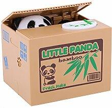 Elektronische Panda stiehlt Münzen Spardose
