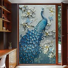 Elektrostatische Matte Peacock Window Glass