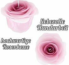Elem Candle Rosenkerze (aubergine) handgemacht  
