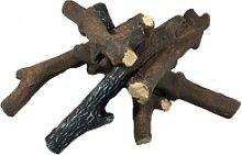 Elementi Brennholz Keramik in Reisig-Optik,braun,