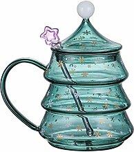 Elementra Weihnachten Becher, Glas Kaffeetassen