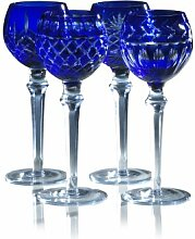 Elements Blau Wein Glas, Set 4