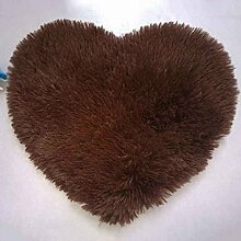 ELENXS Heart Shaped Griffige Wohn-Schlafzimmer Weiche getufteter Teppich Mat Teppichboden-Matten-Bereichs-Wolldecke