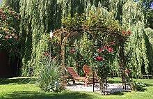 ELEO Florenz runder Rosen- und Rankpavillon mit