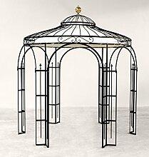 ELEO Milano runder Metallpavillon mit Sonnensegel
