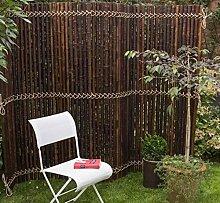 Elephant Bambuszaun Jati & Kokomo Sichtschutz Bambusmatte Gartenzaun (90 x 240 cm - Kokomo - smoked)