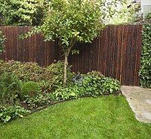 Elephant Bambuszaun Jati & Kokomo Sichtschutz Bambusmatte Gartenzaun (90 x 240 cm - Jati - smoked)