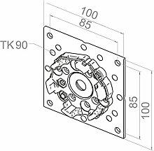 Elero Motorlager für VEKA-Variant Elemente | für RevoLine M & RevoLine L Antriebe