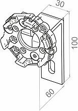 Elero Motorlager gekröpft | 60mm Ausladung | für