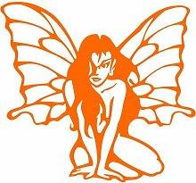 Elfe Aufkleber 001, 30 cm, orange