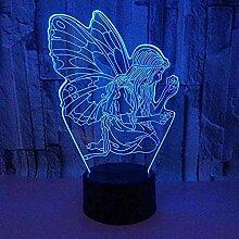 Elfen 3D NachtlichtOptische Täuschung Lampe