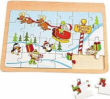 Elfen und Zwerge Holz Puzzle 24 Teilig Weihnachten