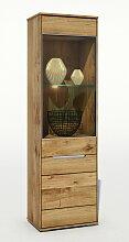 ELFO Vitrine LISSY mit 1 Holztür 1 Glastür mit