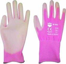 Elias 59086Garten Handschuh, pink mit weiß beschichte