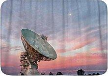 ELIENONO rutschfeste Badematte,Radio Teleskop