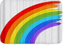 ELIENONO rutschfeste Badematte,Regenbogen gedruckt