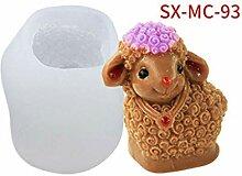 Eliky handgemachte Seifenform 3D Schaf Anhänger