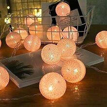 ELINKUME 20er Cotton Balls LED Lichterkette