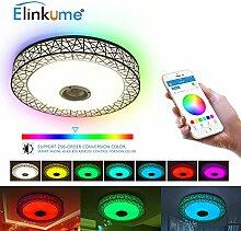 ELINKUME LED Deckenleuchte Dimmbar Farbwechsel 36W