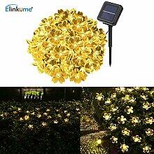 ELINKUME Solarenergie Blumen Lichterkette, 6.8M