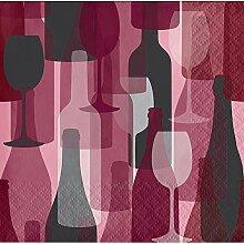 Elise 325073 Weinparty-Muster, 3-lagig, für