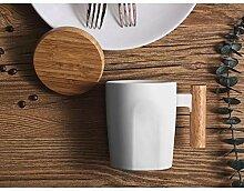 Elismoo Kreativer Holzgriff Mit Kaffeetasse Mit