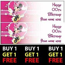 ELITEPRINT Minnie Mouse 1 Gratis-Geburtstagsbanner