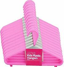 elitezotec® New 50Kinder Kunststoff Kleiderbügel Pink Kleidung Aufbewahrung Shirts Hose Home