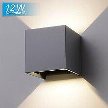 Elitlife 12W LED Wandleuchte Aussen Wandlampe