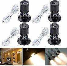 Elitlife 4 Set Mini LED Einbaustrahler Minispot