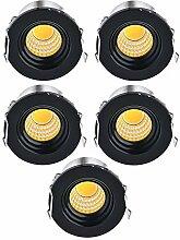 Elitlife 5 Pack Recessed LED Aluminium Mini Klein