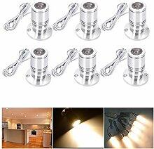 Elitlife 6 Set Mini LED Einbaustrahler Minispot