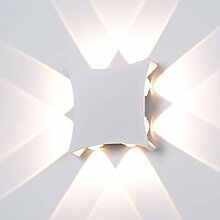 Elitlife LED Wandleuchte Außen Innen 8W