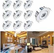 Elitlife Mini LED Einbaustrahler 10X 1W mit Trafo