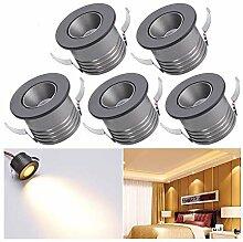 Elitlife Mini LED Einbaustrahler 5 X 1W mit Trafo
